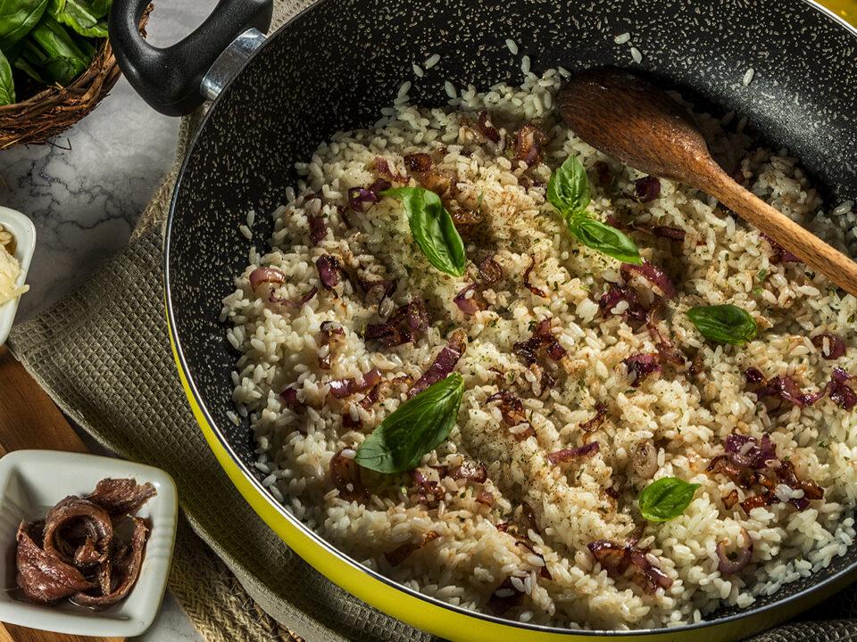 ricetta risotto al basilico